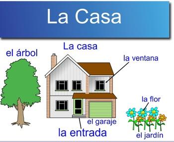 Spanish house vocabulary project
