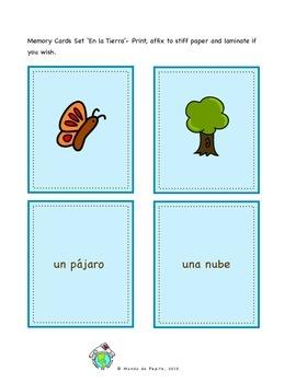 En la Tierra Earth Day Printable Spanish Memory Game