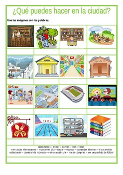 En la ciudad / In the city / Things to do in the town or city