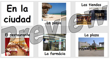 En la ciudad - learning the names of places around town