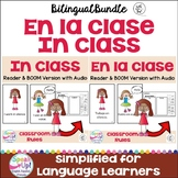 En la clase ~ In Class~ Readers and Sorting Activity {Bilingual Bundle}