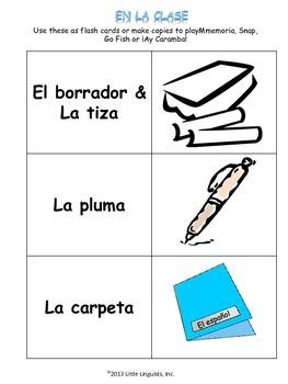 En la clase/In the classroom