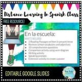En la escuela Reading Passages & Activities, Distance Lear