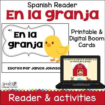 En la granja Spanish Farm Animal Reader ~ with BONUS paperless BOOM version
