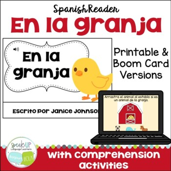En la granja Spanish Farm Animal Reader ~ includes BOOM™ Version with Audio