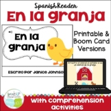 En la granja Spanish Farm Animal Reader ~ with BONUS paper