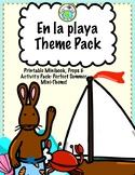 En la playa Summer Beach Mini Theme Pack for Spanish Class