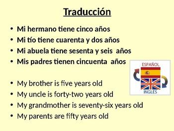 En mi familia / Names and ages