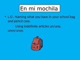 En mi mochila- In my school bag