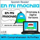 Spanish School Supply Reader {En mi mochila} & Cut & Paste &Paperless BOOM cards