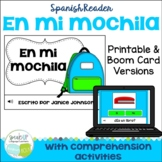 Spanish School Supply Reader {En mi mochila} & Cut & Paste