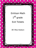 EnVision 1st grade Common Core Math Exit tickets
