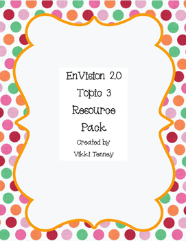 EnVision 2.0 Grade 3 Resource Pack-Topic 3