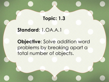 EnVision 2.0 Math Objectives with CC Standards - Grade 1