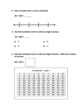 EnVision 2.0 Math Quiz - Topic 10 - Grade 1
