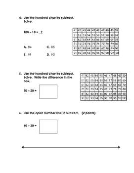 EnVision 2.0 Math Quiz - Topic 11 - Grade 1