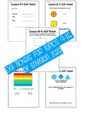 Grade 3 EnVisions Math 2020 Exit Tickets Topics 9-16
