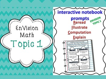 EnVision 2nd grade Topic 1 Add/Sub Interactive R.I.C.E. notebook BUNDLE