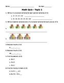 EnVision Grade 4 Math - Topic 1 Quiz