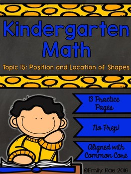 EnVision Kindergarten Topic 15