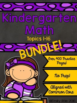 EnVision Kindergarten Topics 1-16 BUNDLE!
