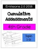 EnVision Math 2.0 4th Grade Cumulative Assessment Bundle 1-16