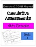 EnVision Math 2.0 4th Grade Cumulative Assessment Topic 3