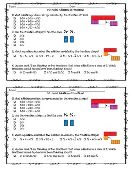 EnVision Math 2.0 4th Grade Exit Tickets Topic 9