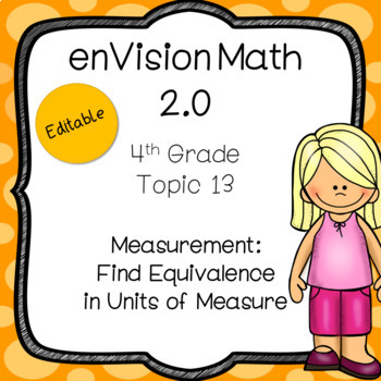 EnVision Math 2.0 4th Grade Topic 13 Measurement Daily PowerPoint Lessons
