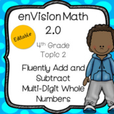 EnVision Math 2.0 4th Grade Topic 2 Add Subtract Multi-Digit Whole Numbers PPT