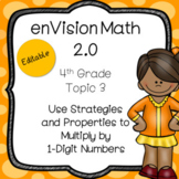 EnVision Math 2.0 2016 4th Grade Topic 3 Multiplying 1-Digit Numbers Powerpoint