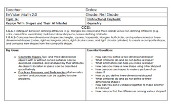 Updated EnVision Math 2.0 First Grade Complete Volume 2 (Topics 8-15+Step-Up)