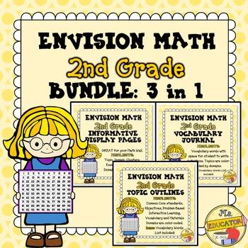 EnVision Math Common Core - 2nd Grade BUNDLE