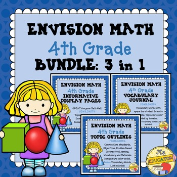 EnVision Math Common Core - 4th Grade BUNDLE