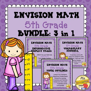 EnVision Math Common Core - 5th Grade BUNDLE