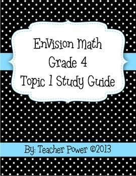 EnVision Math 4th Grade Topic 1 Study Guide