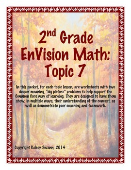 """EnVision Math """"Big Picture"""" Problems for 2nd Grade, Topic 7 (all lessons)"""