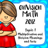 EnVision Math 2012 4th Grade Topic 1 Multiplication & Division, Daily PowerPoint