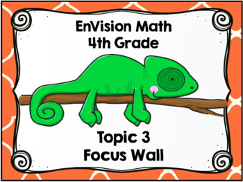 EnVision Math (Common Core Edition) 4th Grade Topic 3 Focus Wall