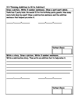 EnVision Math Common Core Subtraction Worksheets - Second Grade, Topic 3