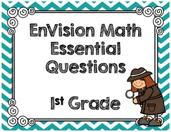 EnVision Math Essential Questions - First Grade