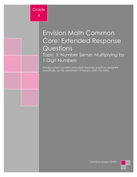 EnVision Math Extended Response Questions - Topic 5