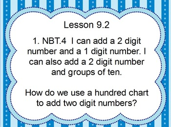 EnVision Math First Grade Topic 9 for Activboard