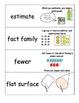 EnVision Math Grade 1 Vocabulary Cards