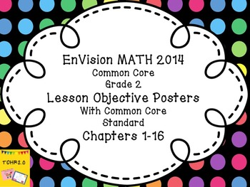 EnVision Math Grade 2 Learning Objective Vocab Posters Dot
