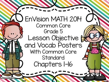EnVision Math Grade 5 Posters