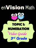 EnVision Math: Topic 1 Numeration Interactive Digital Path Video Guide 3rd Grade
