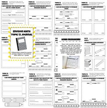 EnVision Math Interactive Notebook/Journal Bundle Topics 10 - 16