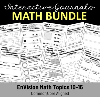 EnVision Math Interactive Notebook/Journal Bundle Topics 3 & 10 - 16