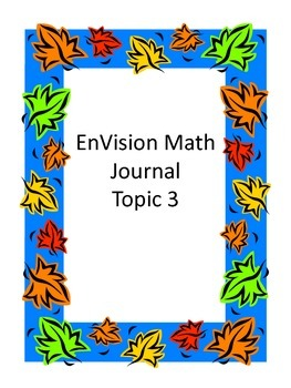 EnVision Math Second Grade Topic 3 Interactive Journal